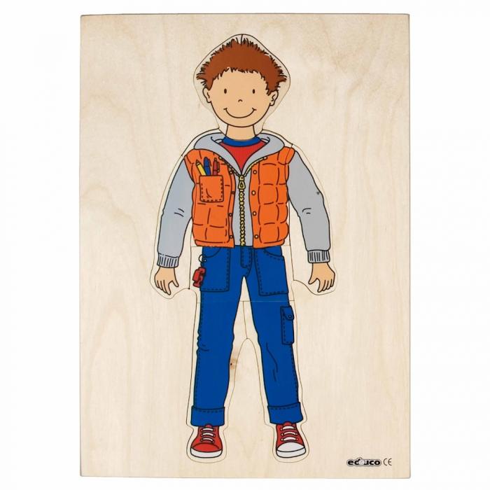 Puzzle îmbrăcare băiat 0