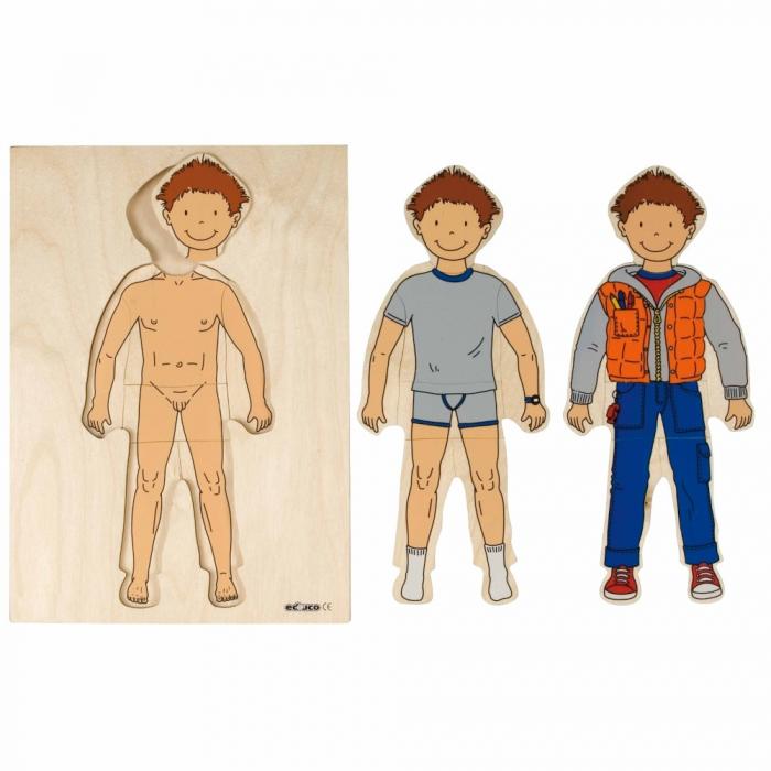 Puzzle îmbrăcare băiat 1