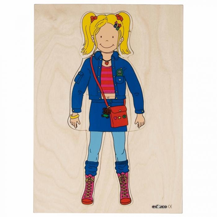 Puzzle îmbrăcare fată 0