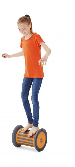 Cilindru echilibru cu nisip ROLLER portocalie 1