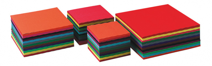 Set de carton 240 buc de dimensiune 16x16 cm, 140gr, 12 culori 0