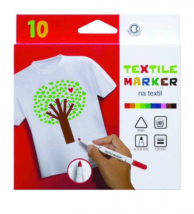 Set de 10 markere pentru textil [0]