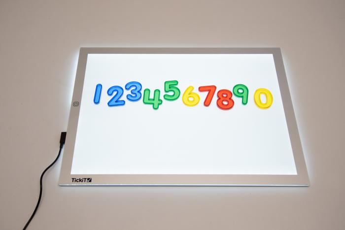Set de 10 numere colorate transparente de înălțime 50 mm [1]