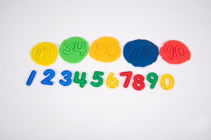 Set de 10 numere colorate transparente de înălțime 50 mm [2]