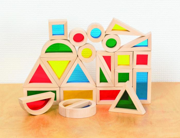 Set de 24 buc cuburi de construcții CURCUBEU 4