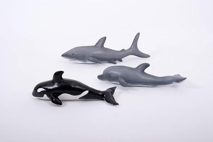 Set de 3 animale marine din cauciuc moale ecologic dimensiune medie 25cm [1]