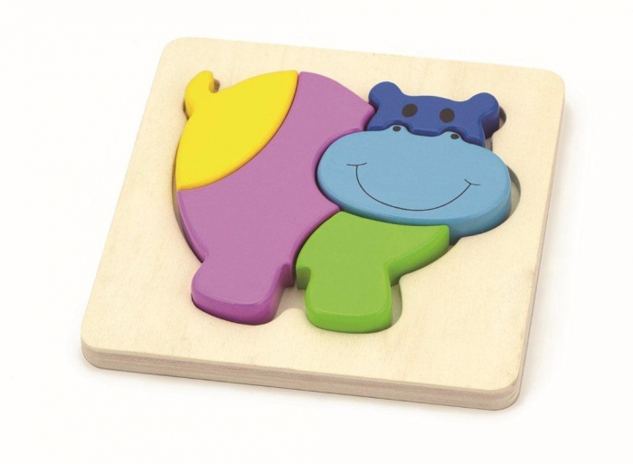 Set de 3 puzzle lemn ANIMALE 2