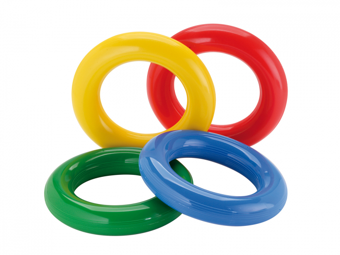 Set de 4 inele de stimulare senzorială Gym Ring din cauciuc moale 0