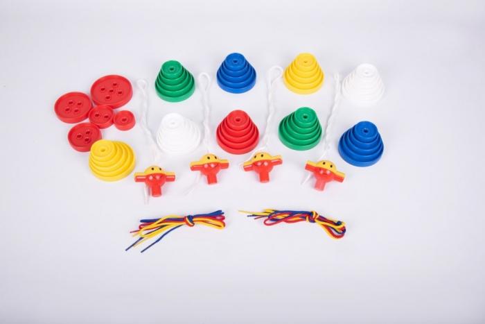 Nasturi de insirat plastic Gigant, Commotion, set de 44 bucati, multicolor 4