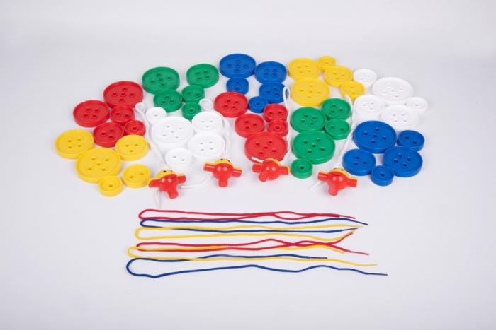 Nasturi de insirat plastic Gigant, Commotion, set de 44 bucati, multicolor 5