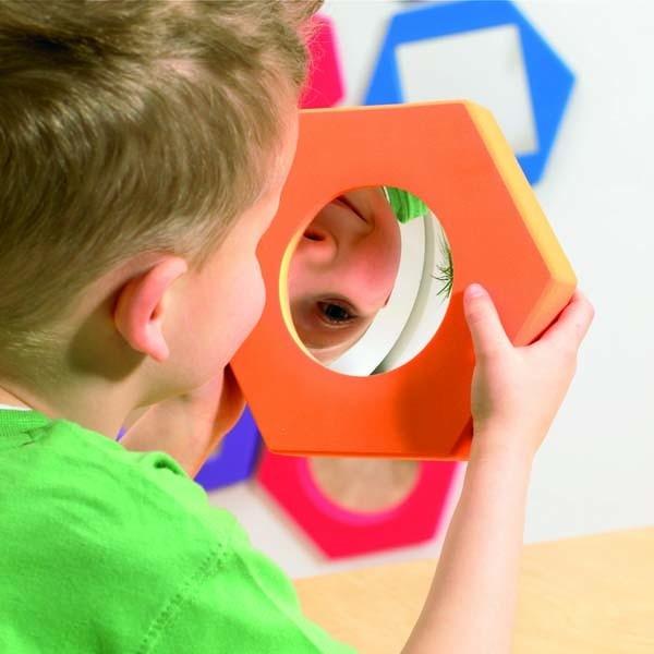 Set de 5 oglinzi hexagonale cu rama de spuma 1
