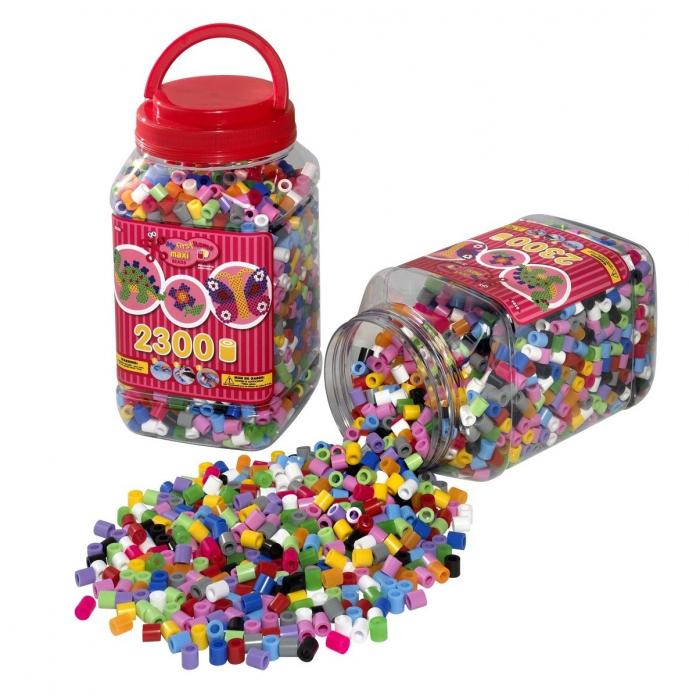 Set de 6 galeti cu 2300 Margele de calcat HAMA MAXI 0