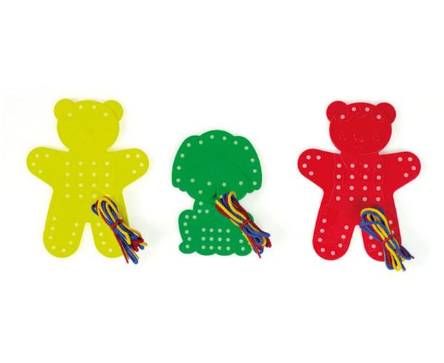 Set de 9 animale de șnuruit cu 27 șnururi in 3 culori 1