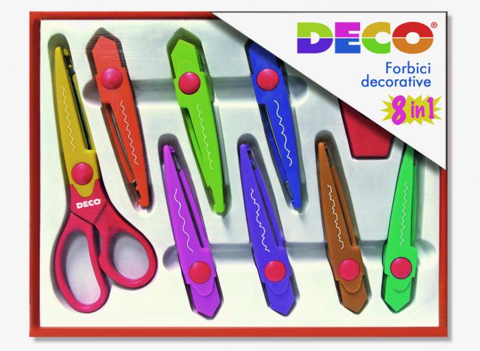 Set de foarfecă decorativă DECO de 16,5 cm cu 8 lame 0