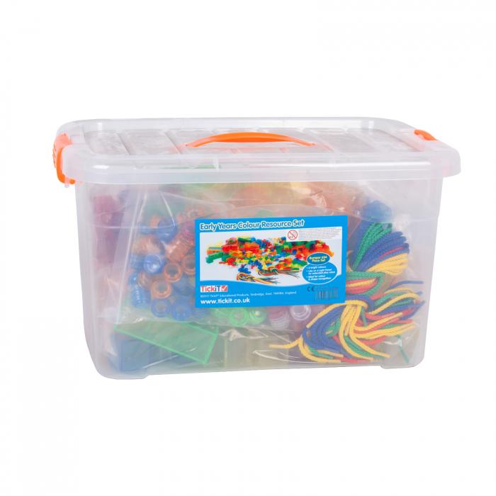 Set de forme colorate transparente pentru copii mici 0