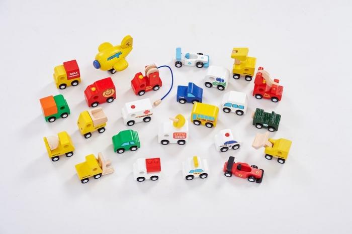 Set mașinuțe din lemn 0