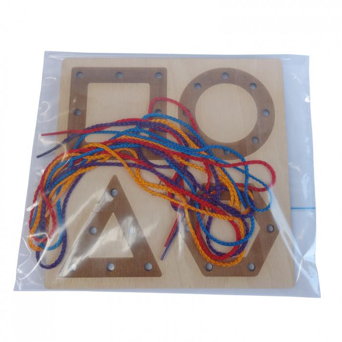 Tablă perforată pentru împletire cu șnur - forme geometrice [1]