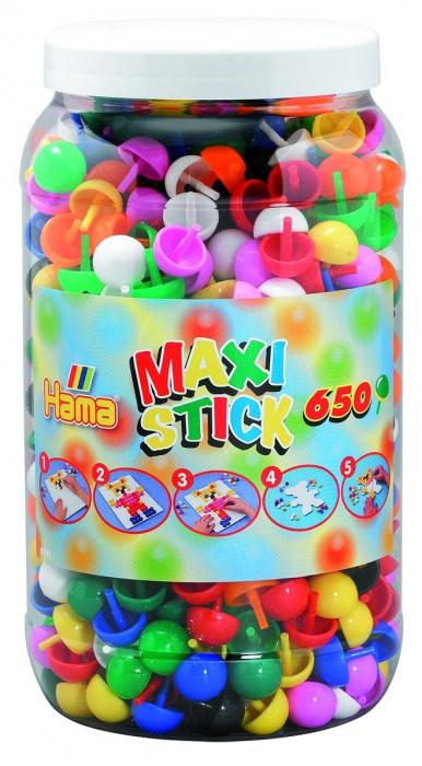 Țepușe ciuperci Hama Maxi Sticks, 650 buc în cutie plastic MARE 0