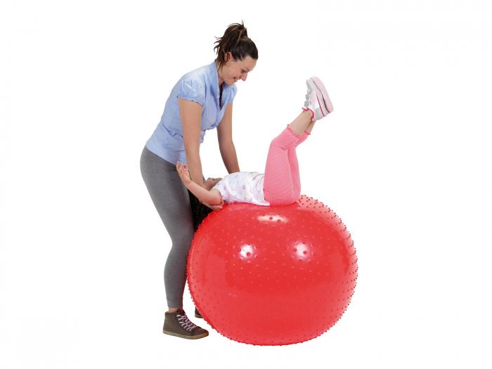 Minge fizioterapeutică Therasensory cu noduli de masaj 100-roșu [0]