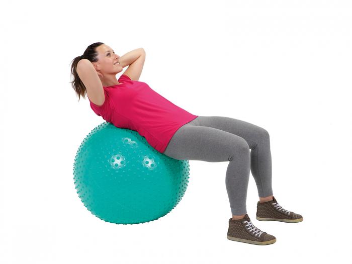 Minge fizioterapeutică Therasensory cu noduli de masaj 100-roșu [3]