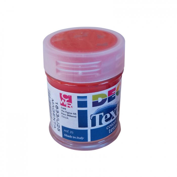Vopsea roșu magenta pentru material textil în flacon de 35 [1]