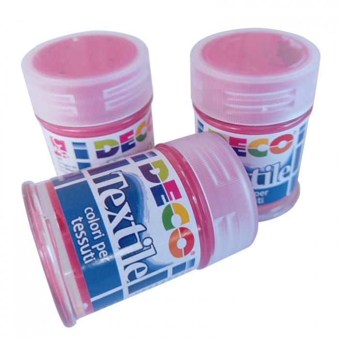 Vopsea roșu trandafir pentru material textil în flacon de 35 ml [2]