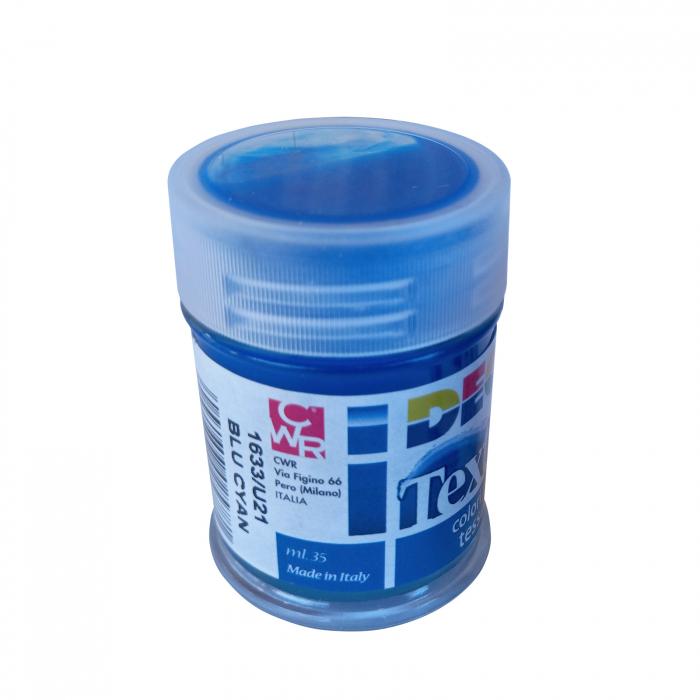 Vopsea albastru cyan pentru material textil în flacon de 35 ml [1]