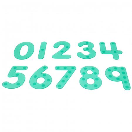 Numere amuzante verzi cu buline de trasat0