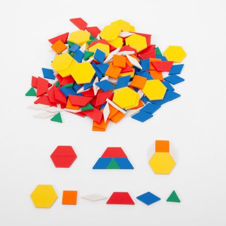 Set forme geometrice Mozaic din plastic0