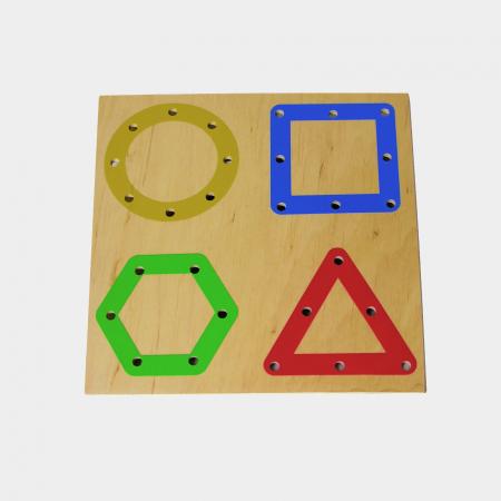 Tablă perforată pentru șnuruire - forme geometrice0