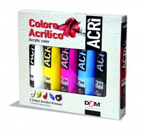 Set de vopsea acrilică în 5 culori în tuburi de 100 ml [1]