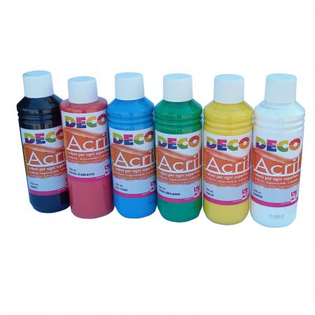 Vopsea acrilică, set de 6 culori de 250 ml [0]