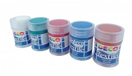 Set de 10 flacoane cu vopsea pentru material textil [3]