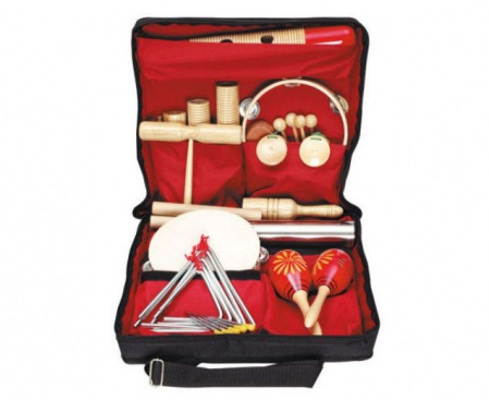 19 instrumente muzicale de joacă - set ritmicitate în sacoșă0