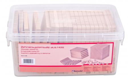 Set de numărare în sistem zecimal din lemn în cutie din plastic [0]