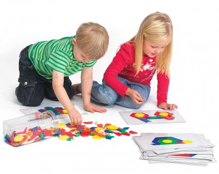 Set forme geometrice Mozaic din plastic2