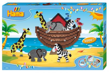 Mărgele de călcat Hama Midi 5000 în cutie, Arca lui Noe0
