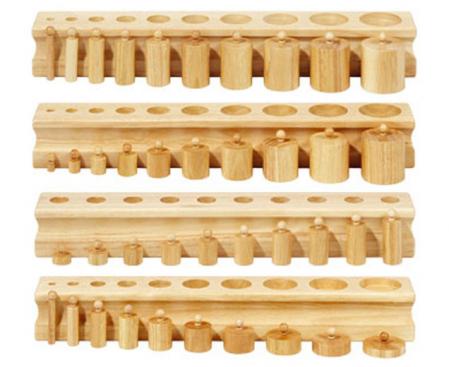 Set de 4 cilindre Montessori - Cylinder Blocks0
