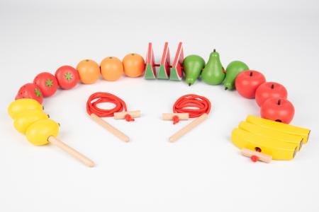 Fructe din lemn pentru înșirat0