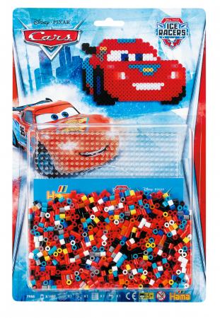 Mașinuțe Disney Fulger McQueen, mărgele Hama în bășică0
