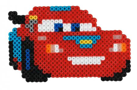 Mașinuțe Disney Fulger McQueen, mărgele Hama în bășică1
