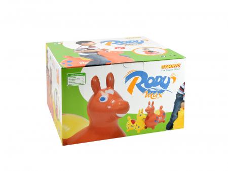 Căluțul săltăreț Rody Max portocaliu1
