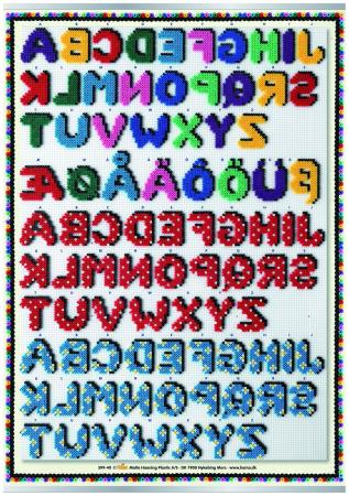 Afis ALFABETUL - litere din margele MIDI1