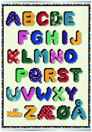 Afis ALFABETUL - litere din margele MIDI0