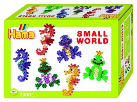 ANIMALE MARINE - 2000 mărgele HAMA MIDI în cutie cadou MIC0