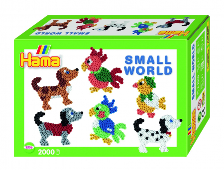 ANIMALE MICI - 2000 mărgele HAMA MIDI în cutie cadou MIC0