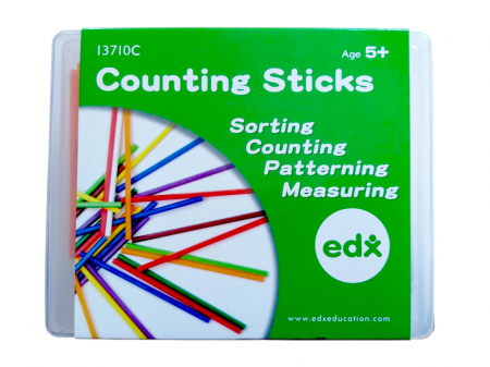 Bețișoare pentru numărat Edx Educational în cutie, set de 1000 bucăți, multicolor0
