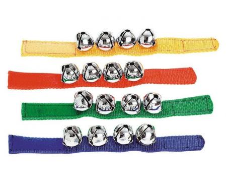 Clopoțel de încheietură - brățară cu 4 clopoței, Commotion, set de 2 brățări0