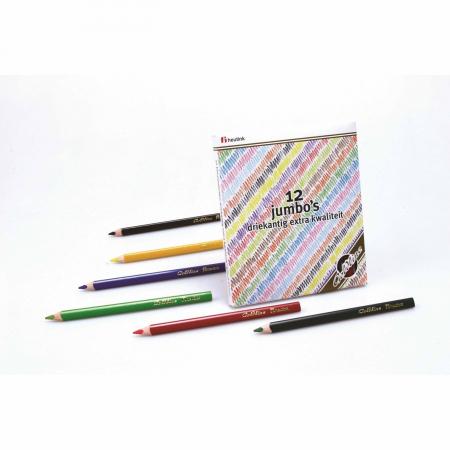 Creioane triunghiulare colorate groase 12 buc1