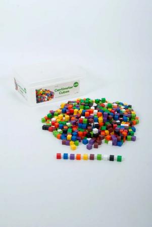 Set de 1000 de cuburi colorate de 1cm cub2